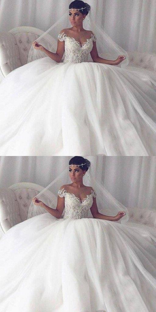 Elegant Weisse Hochzeitskleider Mit Spitze Prinzessin Tull Brautkleider Hochzeitskleid Hochzeitskleid Lang Brautkleid