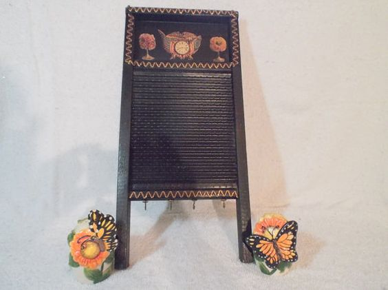 Decorative Shabby Chic Small Washboard by Gem2thei on Etsy
