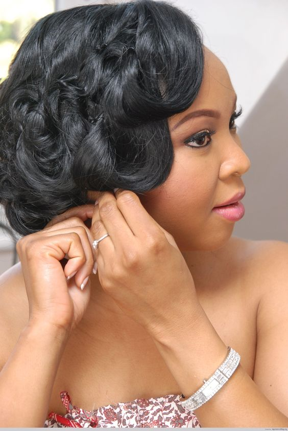 Brilliant Bridal Hairstyles Nigerian Bride And Pinup On Pinterest Short Hairstyles For Black Women Fulllsitofus