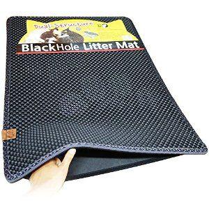 """Amazon.com : Blackhole Cat Litter Mat - Super Size Rectangular 30"""" X 23"""" (Dark Gray) : Litter Boxes : Pet Supplies"""