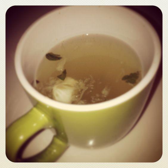 Immunity Tea....Hot lemon water. Cayenne pepper. Honey