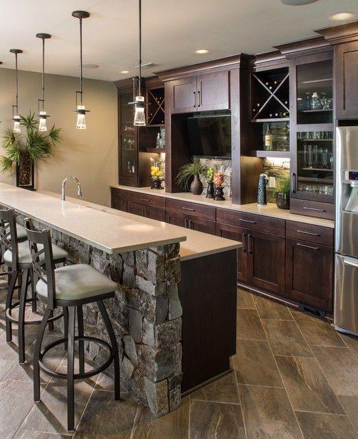 Basement Bar Kitchen Ideas Basement In 2019 Kitchen Bar Lights