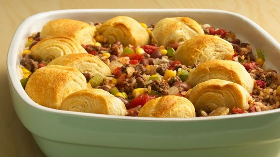 What's for dinner tonight?  How about an easy-to-toss-together casserole topped with delicious, flaky pastry that's quick enough for a busy weeknight?