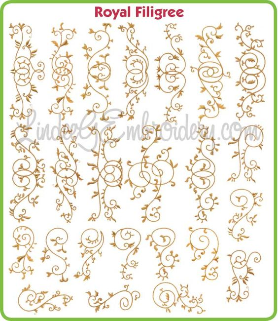 Royal Filigree ~~ use to decorate cakes with royal icing ~~: