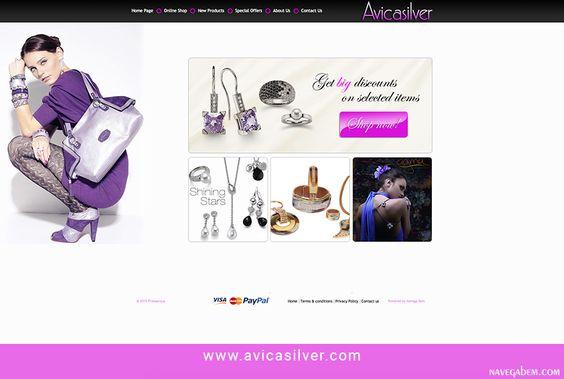Criação e desenvolvimento do website http://www.avicasilver.com #webdesign #onlineshop