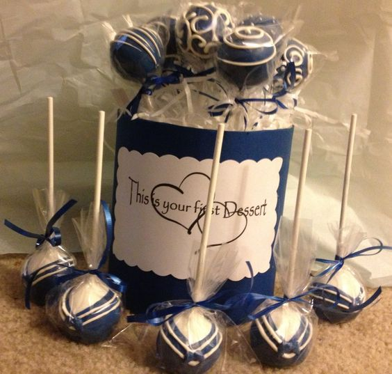Navy cake pops done for a sailors homecoming www.facebook.com/TheCakePopShopJax