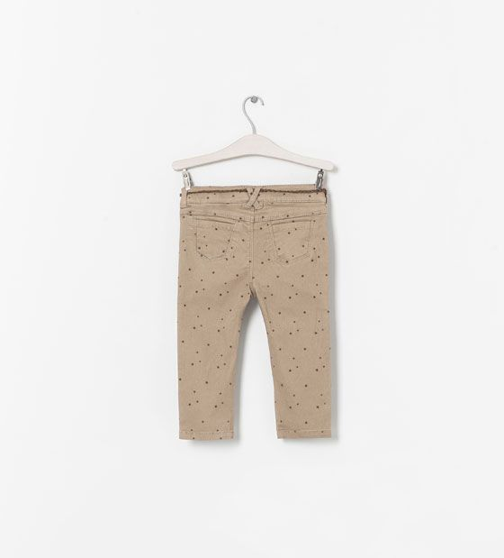 PRINTED TROUSERS WITH BELT from Zara baby infant toddler kids