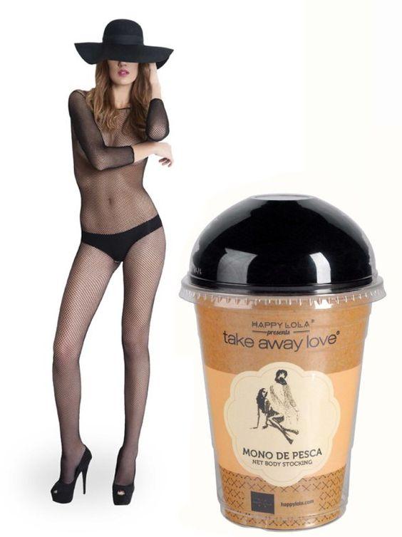 Mono sexy mujer rejilla negro