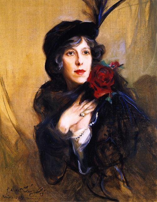 Baroness Conrad de Meyendorff, nee Nadine Vladimirnova Louguinine - Philip Alexius de Laszlo 1914