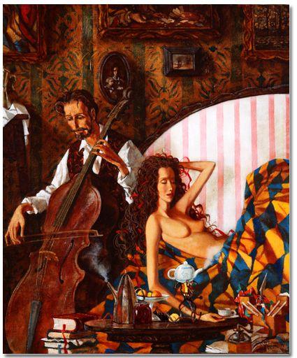 """Zaslonov """"Le café au violoncelle"""""""