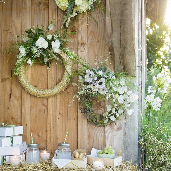 Couronnes de fleurs mariage / réaliser une couronne de fleurs diy / mariage champetre