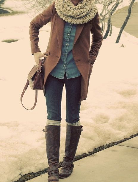 fall outfit and chunky scarfs!