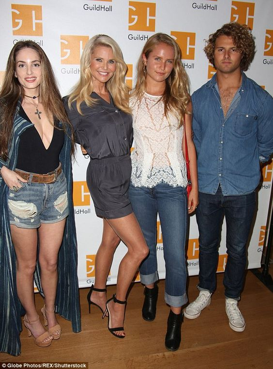 Family reunion! Christie Brinkleyattended Celebrity Autobiography at the Guild Hall in the Hamptons on Friday with daughters Alexa Ray Joel, 30, Sailor Brinkley-Cook, 18, and son Jack Brinkley-Cook, 21