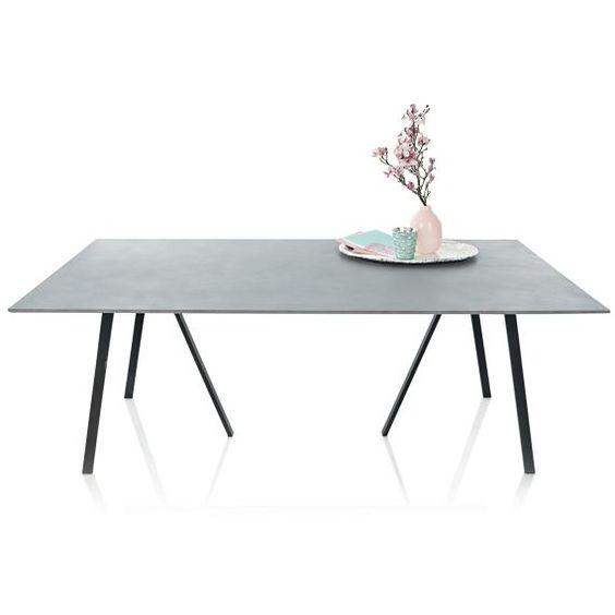Esstisch, Industrial Look, Beton Metall Esstische Tische - industrial style moebel accessoires haus