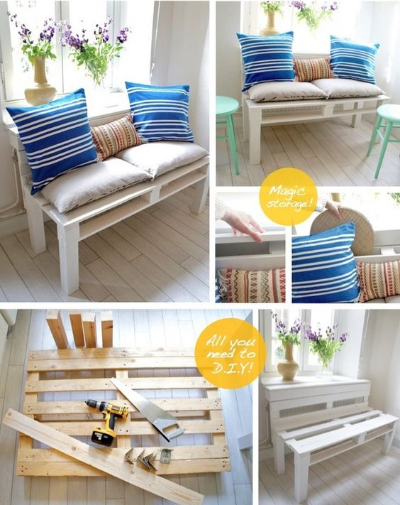 Small Pallet Sofa Idea Balcony Garden Pinterest Pallets And