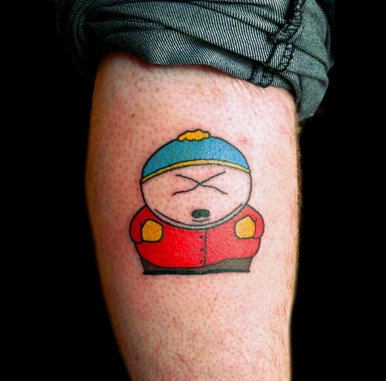 cartman from south park calf tattoo i 39 ll do what i want pinterest calf tattoo parks and. Black Bedroom Furniture Sets. Home Design Ideas