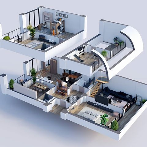 Yes Or No Floorplan 3d By Stgi3d Architecture Architects Homedecor Homedesign Interior Interiorforyou House Layouts Home Design Plans 3d House Plans