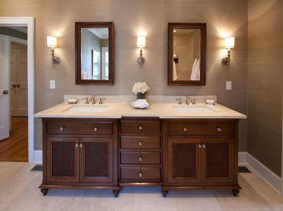 British colonial bathroom master bathroom vanity for Colonial bathroom ideas