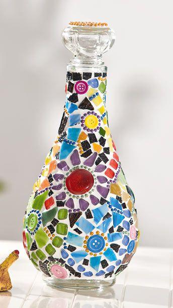 Glasflaschen Mosaik