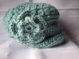 Free Crochet Patterns Little Girl Hats : Crochet little girl newsboy hat- free pattern. Crochet ...