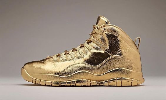 Check out Drake's Solid Gold OVO x Air Jordan 10 Sneakers