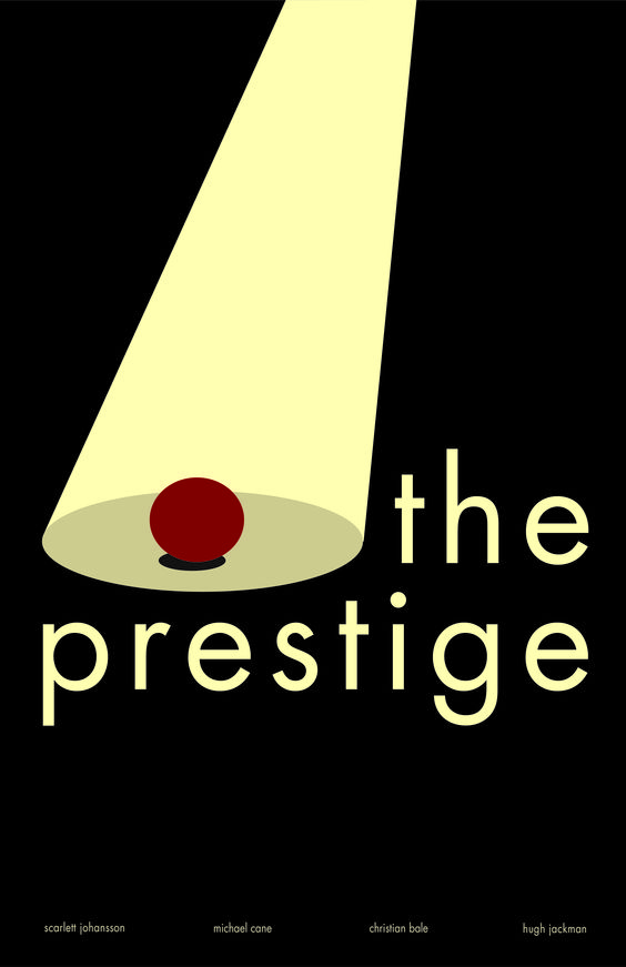 A minimalist poster for the movie The Prestige