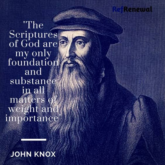 John Knox (c. 1514 – 24 November 1572) was a Scottish clergyman and a leader of the Protestant Reformation who brought reformation to the church in Scotland.In Geneva he met John Calvin, from whom he gained experience and knowledge of Reformed theology and Presbyterian polity. On his return to Scotland he led the Protestant Reformation in Scotland.: