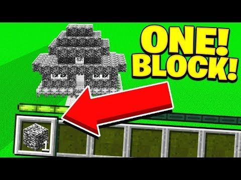 Building A House In Minecraft With 1 Block 1 Jump 1 Block W Unspeakablegaming Minecraft Cool Minecraft Building A House