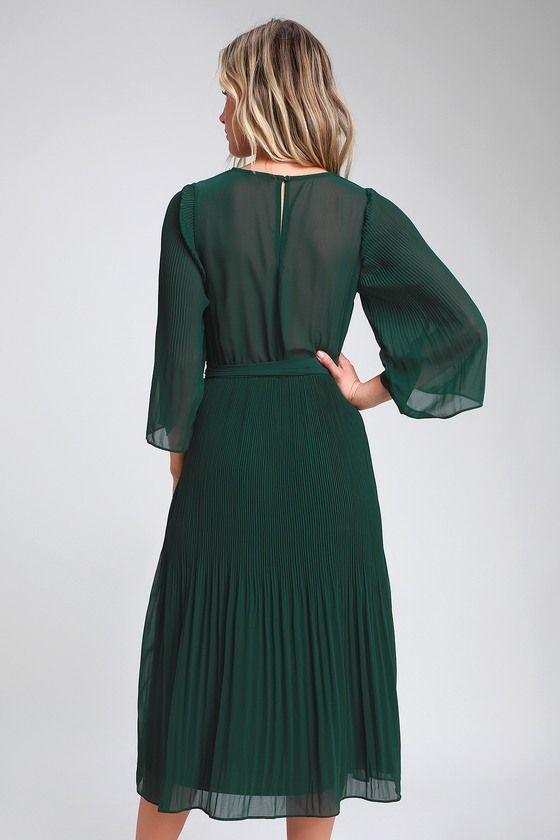 Dark Green Boho Dress