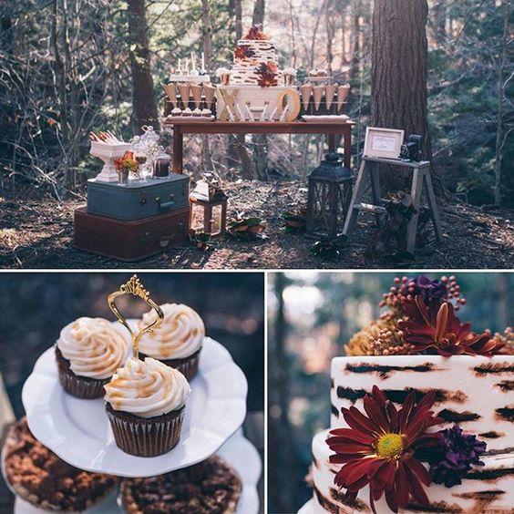 Fall-Inspired Wedding Dessert Table by B Sweet Designs #desserttable #fall #wedding