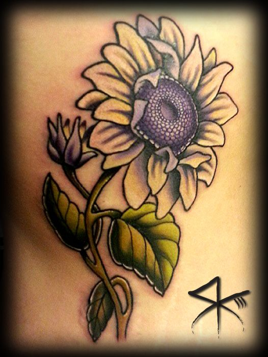 Neo Traditional Sunflower Tattoo : traditional, sunflower, tattoo, Image, Result, Traditional, Sunflower, Tattoo,, Flower, Lotus, Tattoo