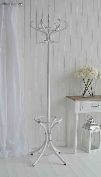 White coat stand. Bentwood traditional hat and coat Stands from The White…