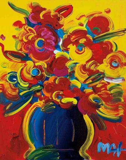 Peter Max    Vase of Flowers Series XIV Version V #29