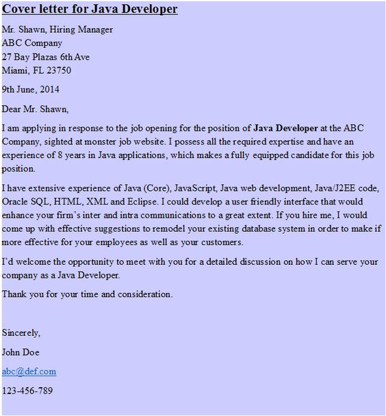 Cover Letter (Project Manager) HipCv Resume Tips \ Articles - software developer cover letter