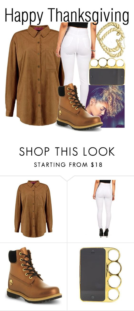 """Happy Thanksgiving--"" by be-you-tiful-flower ❤ liked on Polyvore featuring Timberland and H.I.P."