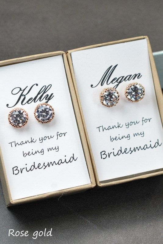 Bridesmaid EarringsBridesmaid GiftBridesmaid by ThePeachMambo