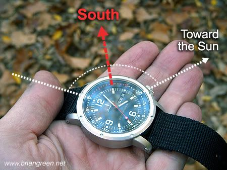 Navigating Without a Compass - also explains how to with a Digital Watch: