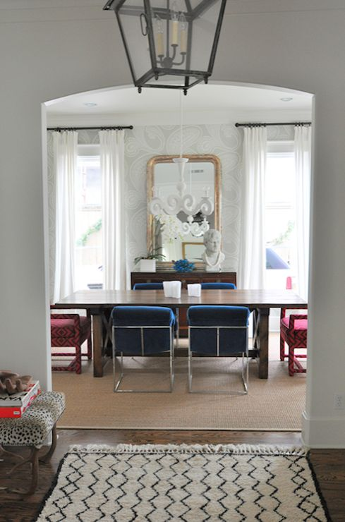 Best Chic Eclectic Dining Room With Cole Son Rajapur 400 x 300