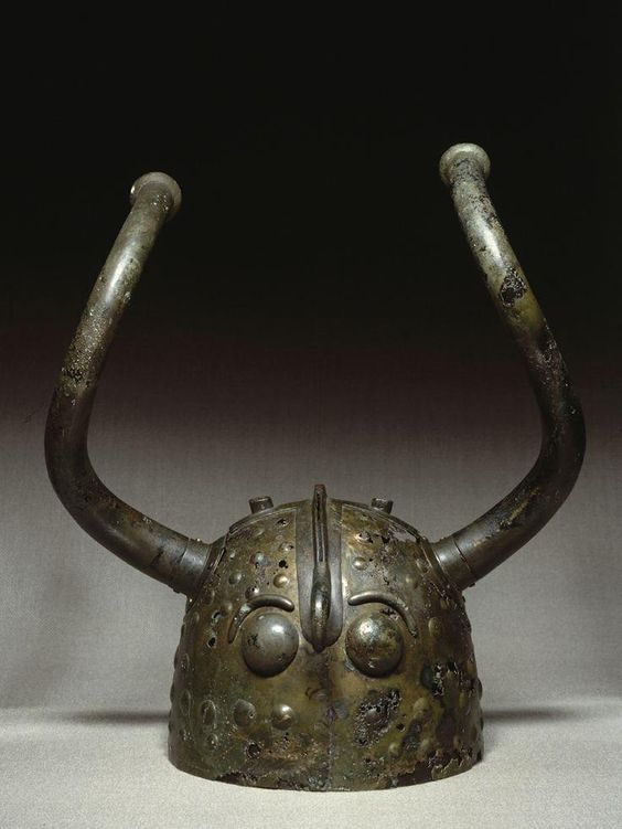 Bronze Age Viskø Helmets, found in Denmark and dated to 900 BC