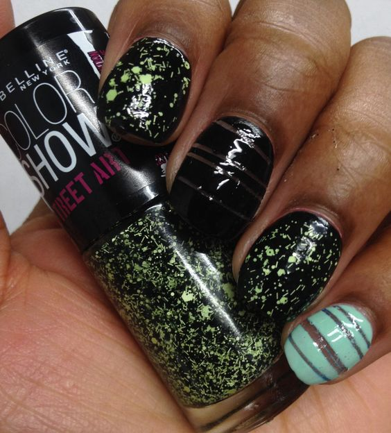 Maybelline color show street art glitter green glitter for Show me the color green