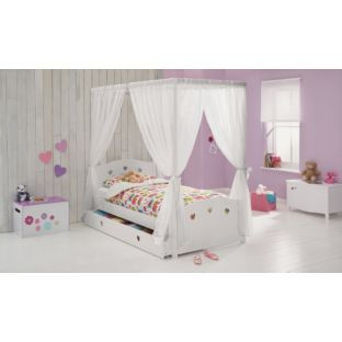 buy molly single four poster bed frame white at argoscouk your online shop for childrens furniture limited stock home and garden amazing white kids poster bedroom furniture