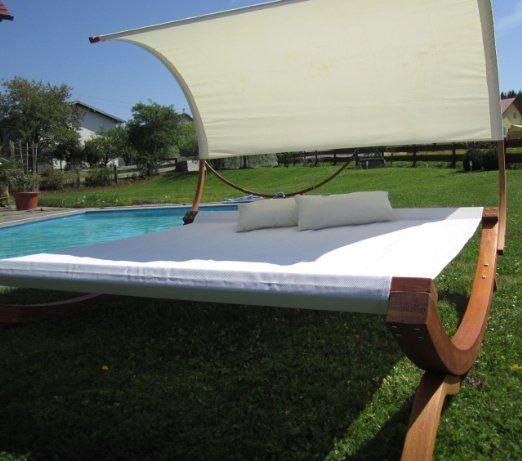Amazon.de: XXL Sonnenliege Doppelliege Gartenliege Hängematte Doppel Liege Gartenmöbel extrabreit für 2 Personen Modell SAONA von AS-S