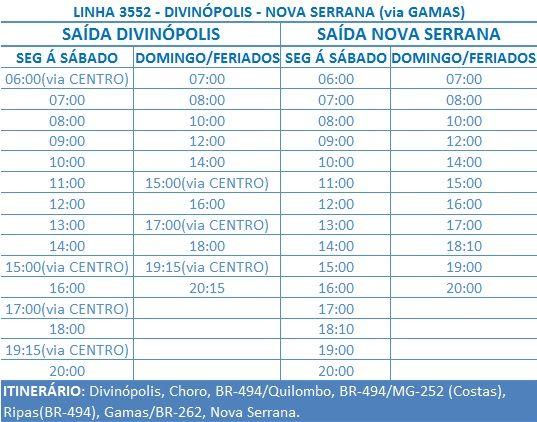 LINHA 3552