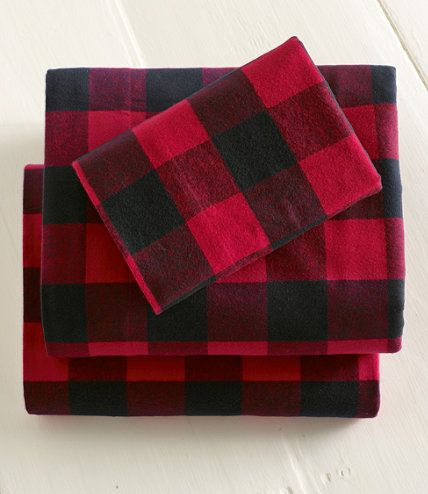 Ultrasoft Flannel Sheet, Fitted Buffalo Plaid: Fitted Sheets | Free Shipping at L.L.Bean: