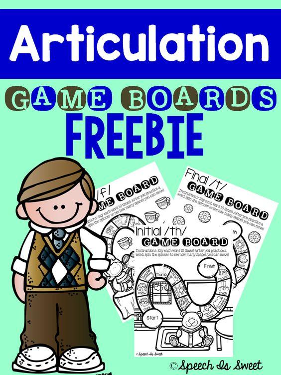 Articulation Game Boards {FREEBIE!}