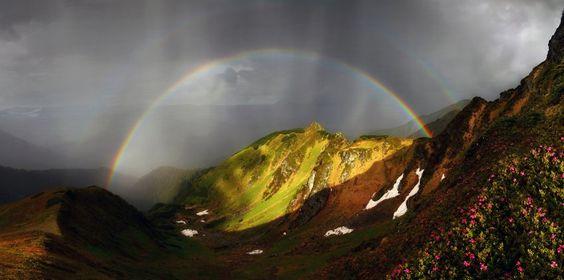 Magischer Moment: Dass es sich auch an düsteren Regentagen lohnen kann, auf...