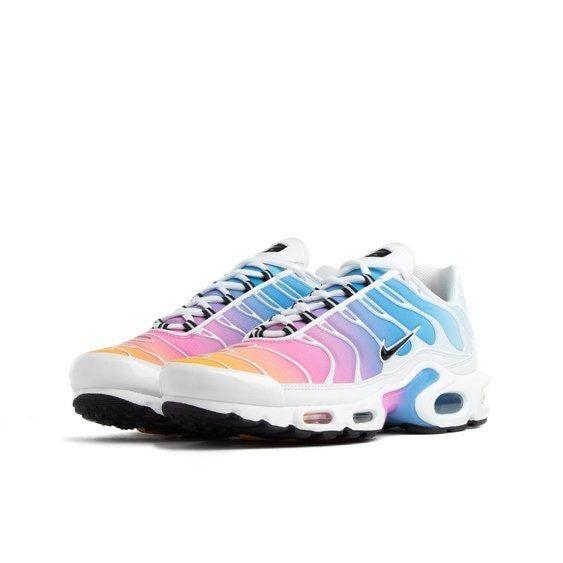 Rare Womens Nike Air Max Plus Tn White Multicolor Size 7.5 ...