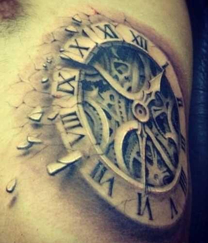 horloge tatouages horloge and tatouage horloge on pinterest. Black Bedroom Furniture Sets. Home Design Ideas