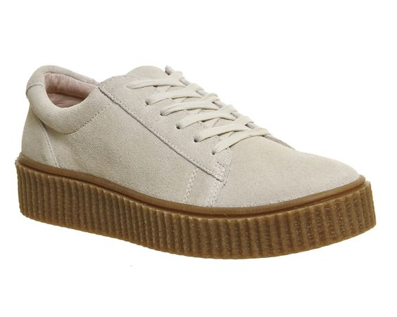 Store Online Womens Office Dipsy Creeper Sole Trainers Off White Flats