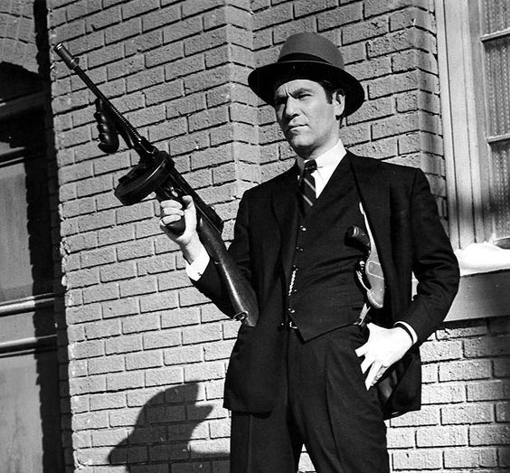 american gangsters of the 1920s & 30s | Lethal | actor with Tommy Gun. (Image | The Sun)